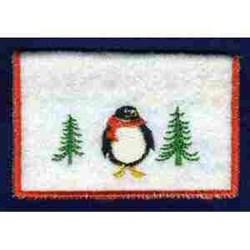 Penguin Card Holder embroidery design