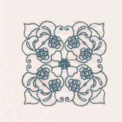 Native Roses embroidery design