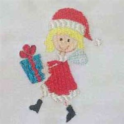Gift Fairy embroidery design