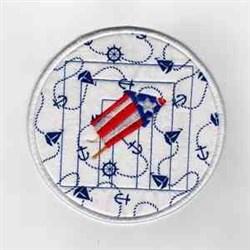 Firework Circle embroidery design