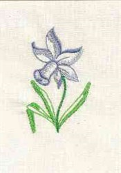 Daffodil Flower embroidery design