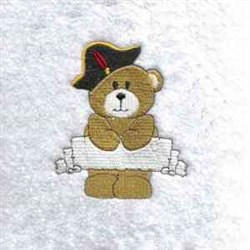Pirate Teddy Bear embroidery design