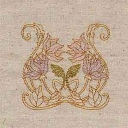 Floral Noveau embroidery design