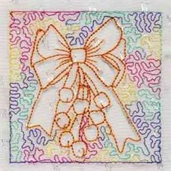 Jingle Bell Block embroidery design