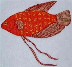 Siamese Fish embroidery design