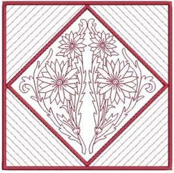 Floral Quilt Block 3 embroidery design