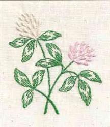Clover Flower embroidery design