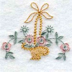 Basket Flowers embroidery design