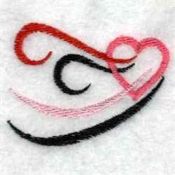 Tribal Swirl Heart embroidery design