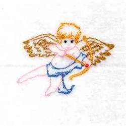 RW Cupid embroidery design