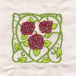 Block Of Roses embroidery design