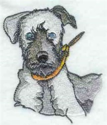 Terrier Dog embroidery design