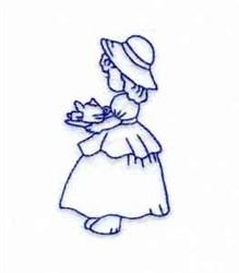 RW Bonnet Girl embroidery design