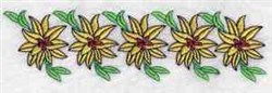 Border Blooms embroidery design