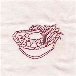 Thanksgiving Basket embroidery design