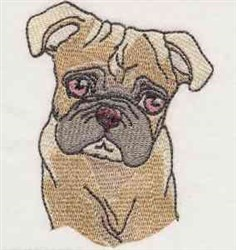 Boxer Pup embroidery design