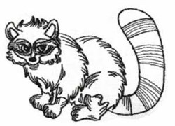 Redwork Raccoon embroidery design