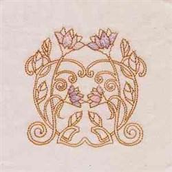 Noveau Flowers embroidery design