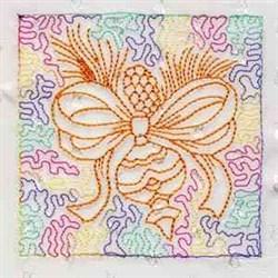 Ornament Quilt Block embroidery design