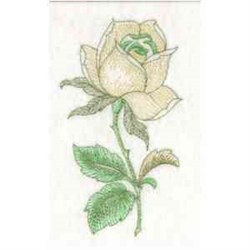 Rose Bud embroidery design