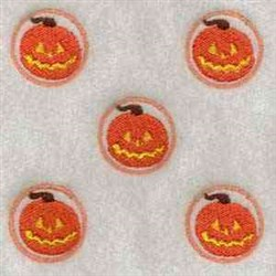 Pumpkin Game Piece embroidery design