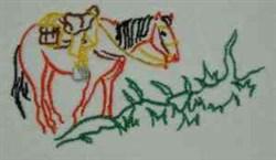 RW Horse embroidery design