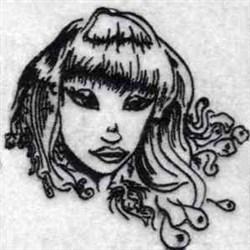 Mystique Girl embroidery design