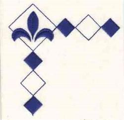 Diamond Corner embroidery design