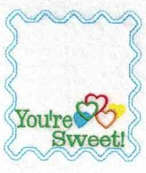 Youre Sweet embroidery design