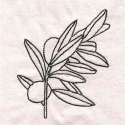 Olive Twig embroidery design