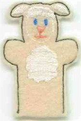 Lamb Finger Puppet embroidery design