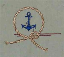 Anchor Crest embroidery design