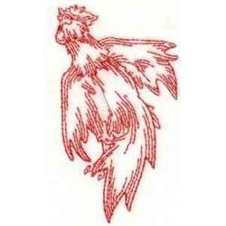RW Cock embroidery design