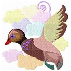 Colorful Duck embroidery design
