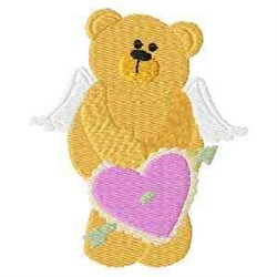 Bear Angel embroidery design