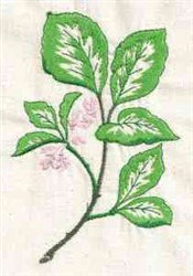 Leafy Floral embroidery design