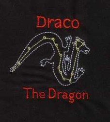 Draco Constellation embroidery design