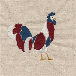Rooster Patriot embroidery design