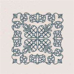 Rose Quilt Square embroidery design