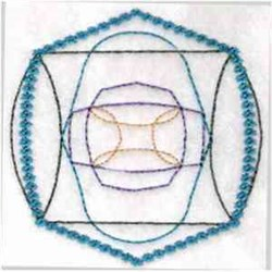 Quilt Shape embroidery design