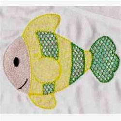 Mylar Fish embroidery design