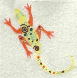 Deco Lizard embroidery design