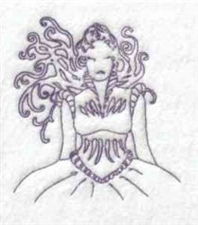 Redwork Woman embroidery design