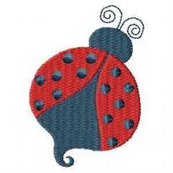 Spring Ladybug embroidery design