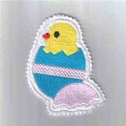 Chick Ornament embroidery design