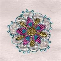 Mylar Flower embroidery design