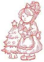 RW Girl & Card embroidery design