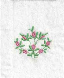 Flower Bush embroidery design