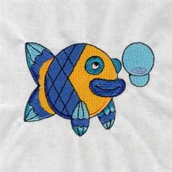 Deco Fish embroidery design