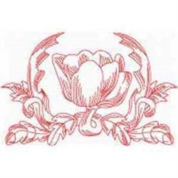 Redwork Tulip embroidery design